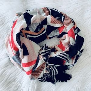 breezy pink and black printed soft summer scarf